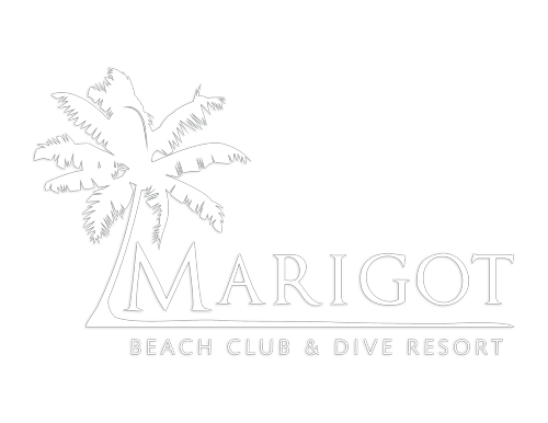 Marigot Beach Club & Dive Resorts Logo in White
