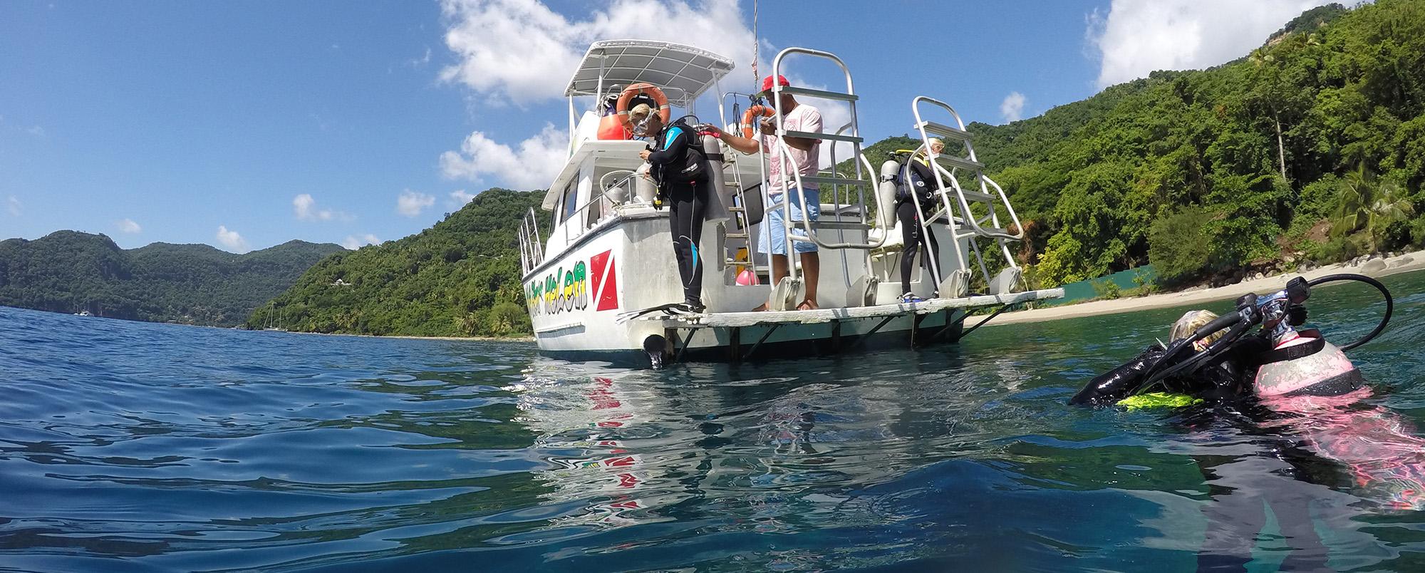 Diving at the Marigot Bay