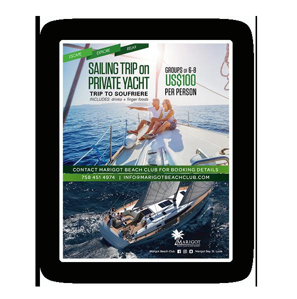 Marigot Beach Club Private Yacht Sailing Trip